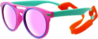 COOLSOME Kids Girls Polarized Rubber Flexible Sunglasses...