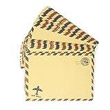 Honbay Briefumschläge 50 Stück Vintage Kraftpapier für Einladungen, Briefe, Postkarten, etc.