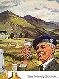 Wee Blue Coo Advert Whisky Scotch Highland Scotland Long John 30X40 CMS Fine Art Print Art Poster BB7202