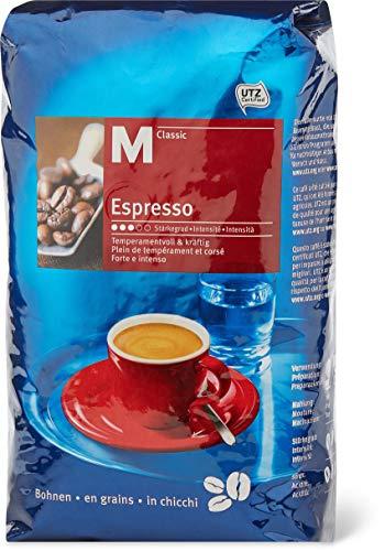 M-Classic Espresso Ganze Kaffeebohnen 1kg, Stärkegrad 3/5