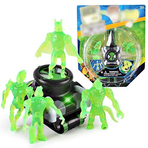 Zhongdawei Proyector de niños de reloj juguetes para Ben 10 Alien Force y misteriosa proyección figuras de acción modelo de juguete para niños