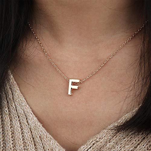 MCAdianPU halsketting met letter in goud initiaal naam ketting alfabet hanger voor vrouwen meisjes mooi cadeau voor verjaardag