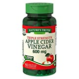 Nature's Truth Apple Cider Vinegar 600 mg Quick Release Capsules Triple Strength - 60 ct, Pack of 3