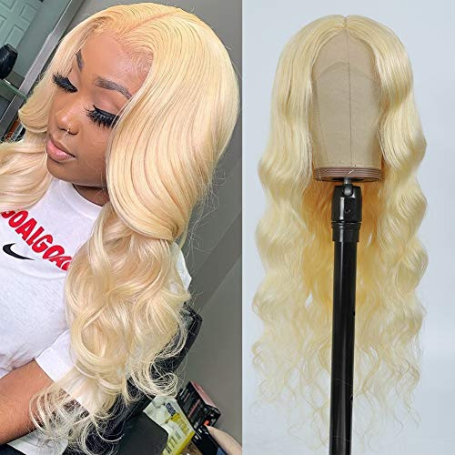 613 Blonde Lace Front Wig Human Hair Pre Plucked 24