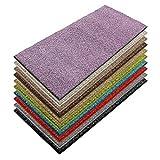 casa pura Teppich Läufer Luxury | Moderne Shaggy Optik mit flauschigem Hochflor | Teppichläufer in vielen Farben für Flur, Schlafzimmer, Wohnzimmer etc. | viele Breiten und Längen (66 x 100cm, lila)