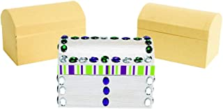 Colorations Decorate Your Own Paper-Mache Treasure Chests, Set of 12, for Kids Arts and Crafts Creativity (Item # TRESUR)