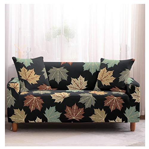 Eck-Stretch-Sofabezug, Rutschfester Polyester-Sofabezug, L-Ecke (1/2/3/4 Sitz Maple Leaf C. 90X140Cm