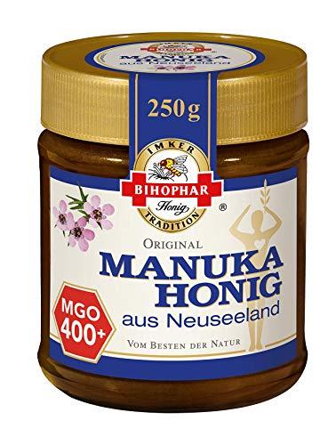 BIHOPHAR – Manuka Honig aus Neuseeland 400+ MGO I 250 g Honig