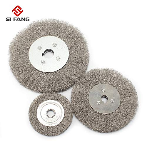Best Price Xucus 100-200MM Stainless Steel Wire Wheel Flat Round Wire Brush for Derusting Wood Polis...