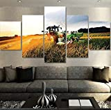 NJYY Wandkunst 5 Stücke Leinwanddruck Malerei Traktor