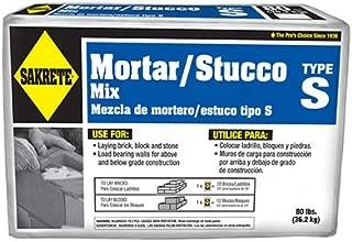 SAKRETE of North America 65302880 Type S Mortar Mix, 80 lb