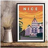 NFGGRF Frankreich Nizza Negresco Hotel Vintage Reise Poster