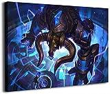 Lea-gue of Leg-ends - Cuadro decorativo para pared (30,5 x 40,6 cm), diseño de videojuegos de Hextech Alistar