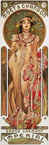 1art1 63937 Alphonse Mucha - Moët Et Chandon, 1899 Kunstdruck 91 x 30 cm