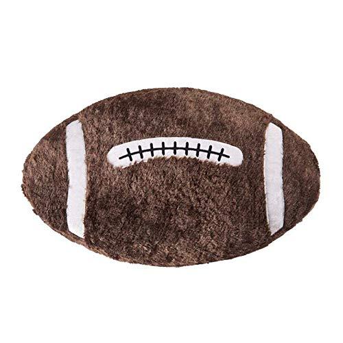 G-Baum Kuscheltier 21 Zoll, Plüsch Rugby Spielzeug Bälle Eltern-Kind-Spielzeug oder Plüsch Ball des Sports Dog Toy- American Football, braun