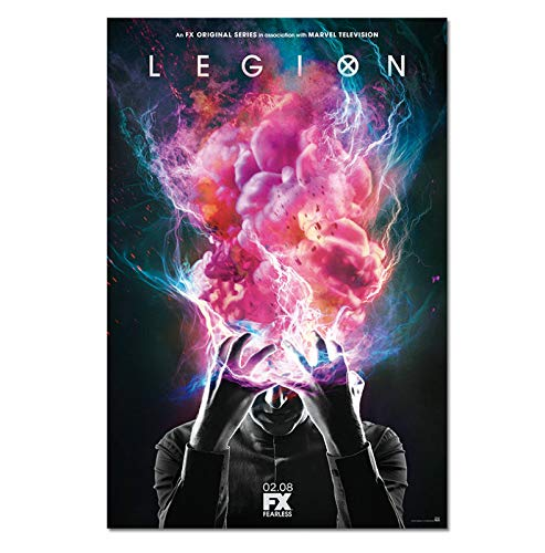 ACUOHU Pintura De Lienzo Legion Season 3 1 Movie Poster TV Wall Art Prints para Sala De Estar Dormitorio Habitación Decoración De Pared Pintura Sin Marco A498 (50X70Cm)