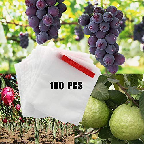 Alltripal Reusable Fabric Fruit Protection Bags Reusable Nylon Mesh Netting Barrier Bags for Apple Grape Mango Pear Fruit and Vegetable Against from Birds 787984inch 100pcs