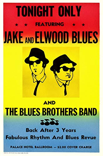 The Blues Brothers In Concert Poster - Size 24'x36' (60.96cm x 91.44cm)