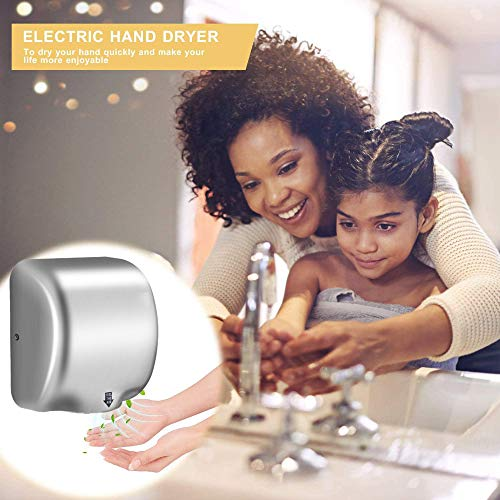 DGPOAD Hand Dryer Commercial Hands Drying Device Stainless Steel for Home Bathroom High Velocity Low Energy Eco Friendly…