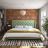 Novogratz 4357949N Her Her Majesty Bed, King, Green