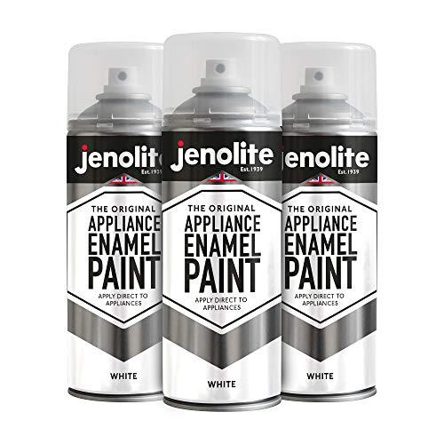 Jenolite - Pintura esmaltada (3 unidades, 400 ml), color blanco