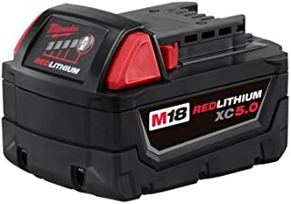 Milwaukee Tools 48-11-1850 M18 Redlithium Xc5.0 Extended Capacity Battery Pack