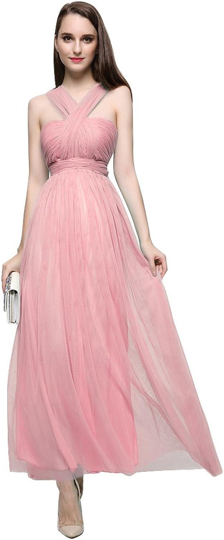 BeautyEmily Halter Sleeveless Backless Pleated Evening Dresses