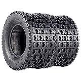 VANACC Set of 2 Sport ATV UTV Tires 20x10-10 AT 20x10x10 fit for Kawasaki Bayou 220 250 Rear 4PR