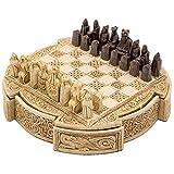 The Regency Chess Company Ltd, England Isle of Lewis Compacto Celta Juego DE AJEDREZ 9 Pulgadas En Marfil