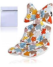 HachiTo ベビーカーシート ベビーカークッション ベビーマット リバーシブル オールシーズン通用 出産祝い 洗濯ネット付