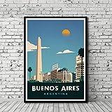MhY Vintage Reiseplakat Buenos Aires Malerei Poster druckt