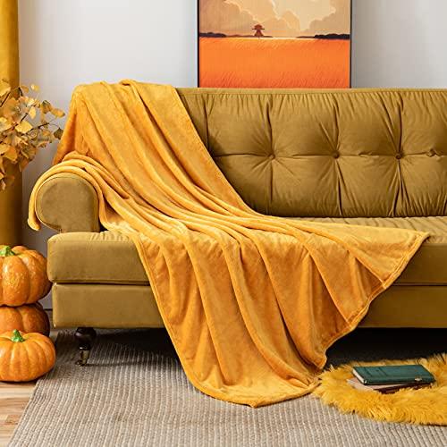 MIULEE Manta Blanket Terciopelo Grande para Sófas Mantilla de Franela para Siesta Súper Suave Manta para Cama Ligera y...