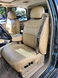 2000-2002 Chevy Silverado Beige Artificial Leather Custom Made Original fit Front Seat Covers & 2 Armrest Covers