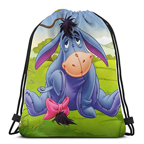 Bolso clásico con cordón Eeyore gris Burro gimnasio mochila Bolsas de hombro deporte bolsa de almacenamiento para hombre mujer
