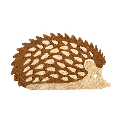 Hedgehog Shaped Coir Mat, Multi-Colored