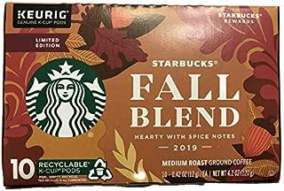Fall Blend Medium Roast Coffee Single Serve Pods for Keurig Brewers, 1 box of 10