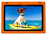 BobjGear Bobj Rugged Case for Lenovo 10 TB-X103F and Tab 2 A10-30, Tab2 X30F Custom Fit - Patented Venting - Sound Amplification - BobjBounces Kid Friendly (Outrageous Orange)