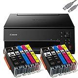 Bundle Canon PIXMA TS6350 Tintenstrahldrucker Multifunktionsgerät (Drucker, Scanner, Kopierer) mit 10 komp. Youprint® Tintenpatronen für PGI-580/CLI-581 XXL +USB-Kabel