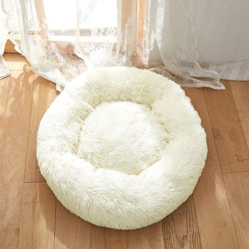 Uozzi-Bedding-Plush-Faux-Fur-Round-Pet-Dog-Bed-Comfortable-Fuzzy-Donut-Cuddler-Cushion-for-Dogs-Cats-Soft-Shaggy-and-Warm-for-Winter