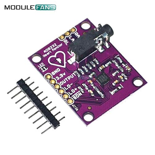 AD8232 Single Lead-PulsMesser ECG developemt Kit für Arduino kompatibles DIY Kit Electronic PCB Board Modul