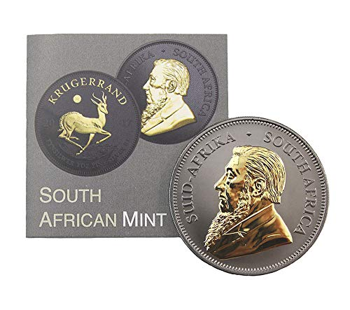 South African Mint Krügerrand 2017 Black Ruthenium & Gold Plated 50 Jahre Jubiläumsausgabe