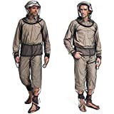 4 Pieces Mosquito Suit, Light-Weight Bug Repellent Jacket Hood & Pants Net Clothing Set for Men & Women,Outdoor Protection from Insects,Flies,Gnats, Ideal Suits for Fishing Hiking Camping Gardening