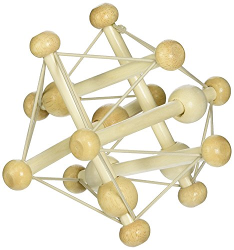 Manhattan Toy Skwish Natural Rassel und Beißring Greifing Activity Toy