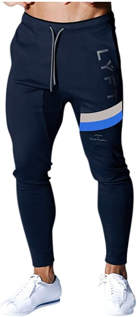 Mens Home Fitness Pants Fashion Comfortable Solid Color Sports Pants