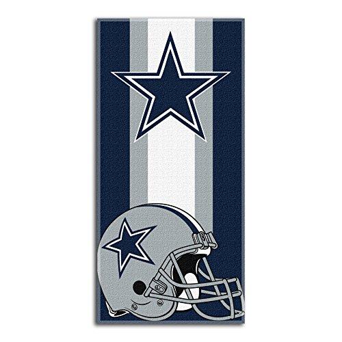 The Northwest Company NFL Dallas Cowboys  Zone Read  Beach Towel, 30  x 60  , Blue