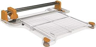 Fiskars Massicot rotatif ProCision A4, Ø45 mm 30 cm - A4, Avec système de double rail, Orange/Blanc, 1015748