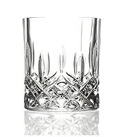 6 bicchieri da whisky opera maison, in cristallo italiano, da 30 cl, in stile vintage anticato