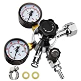 Keg Regulator CO2, MRbrew Kegerator Regulator CGA-320, 0-60 PSI Working...