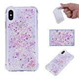 Maoerdo Galaxy S5 Case,Glitter Bling Sparkle Shiny Case for Girls Women Liquid Quicksand Flowing Soft TPU Phone Case Protective Cover for Samsung Galaxy S5 - Mei Love