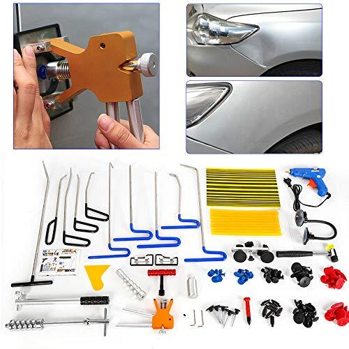 OU BEST CHOOSE Auto Ausbeulset Reparatur Ausbeul Werkzeuge Set, Car Body Dent Puller Paintless Reparatur Entfernung Kits, Gleithammer Puller Tabs Dellen Heber